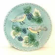 German Majolica Plate Bird & Grape Motif #2