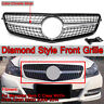 For Mercedes Benz C-CLASS W204 Diamond Front Grill Grille C180 C200 C300 08-14
