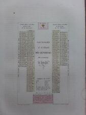 GRAVURE 1840 POLOGNE POLAND POLSKA PLAN FIGURATIF DIETE CHAMBRE DES SENATEURS