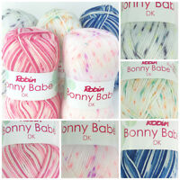 Robin Bonny Babe DK Prints wool / yarn 100 gram balls pink blue denim orange