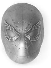 SPIDER-MAN MASK - MARVEL ICON SERIES - 2019 2 OZ Antiqued Pure Silver Coin Fiji