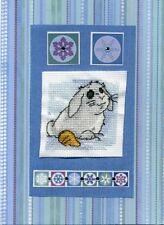 Bunny Rabbit Cute Cross Stitch Cards - Handmade - Birthday, For You, With Love
