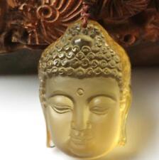 Natural Citrine Hand carved Citrine buddha Kuanyin charm zen pendant