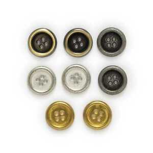 5pcs Round Metal Button for Clothing Handmade Bage Crafts Package Sewing Decor