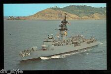 USS Harold E. Holt FF-1074 postcard  US Navy warship fast frigate
