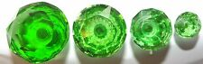 Green Cut Facetted Glass Drawer & Cupboard Pull Door Knob 4 Sizes GB seller