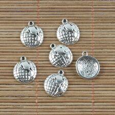 22pcs Tibetan silver EARTH GLOBE charm pendants h0193
