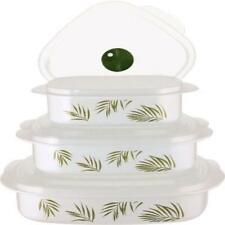 Corelle Coordinates Bamboo Leaf 6-Piece Microwave Cookware Set New Dining Kitche
