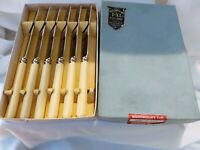 6 1940s Unused Side Butter Tea Knives Wostenholms Sheffield Original Box/Wraps