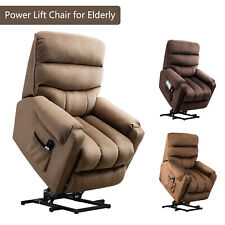 "Power Lift Recliner Chair 20""W Padded Seat Reclining Couch Sofa for Elderly w/RC"