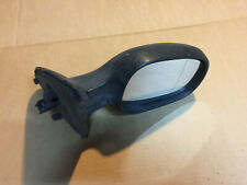 RENAULT CLIO MK2 01-05 Drivers Side Right OS Black Electric Door Wing Mirror