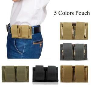 Tactical Bag Double Speed Loader Belt Pouch Speedloader Fits 22 Mag thru 44 Mag