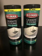 NEW Weiman Granite And Stone Wipes 2 Canisters