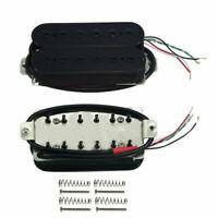 Black Alnico 5 Humbucker Pickup Electric Guitar Neck or Bridge Pickup Hex Poles