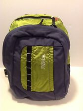 JANSPORT Green Nylon Backpack Hiking Daypack Lightweight Excellent Condition