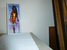 2014 The Barbie Look City Shine Orange Metallic Dress African-American Doll