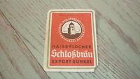 OLD 1940s GERMAN BEER LABEL, BRAUEREI ZOHRLAUT HAIGERLOCH, SCHLOKBRAU
