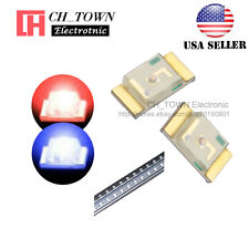 100PCS 1206 (3227) SMD SMT LED Diodes Two-color Bi-Color Red Blue Light USA