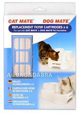 CAT/DOG MATE PET FOUNTAIN FILTER CARTRIDGES 2 PACK DOG WATER REPLACEMENT 389