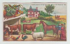 Victorian Trade Cards,  Domestic Sewing Machine, Farm Animals