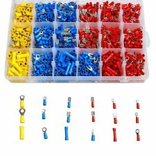 1200pcs Insulated Assorted Electrical Wiring Connectors Crimp Terminals Set Kit