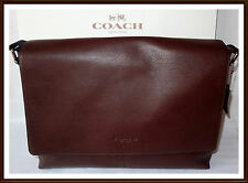 Coach Calf Leather Charles Briefcase Laptop Messenger Bag MAHOGANY NWT NEW 54792