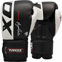 RDX Cowhide Leather Boxing Gloves for Training & Muay Thai Sparring Mitts New