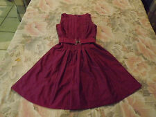 Wayne Cooper Gorgeous Sleeveless Pleated Dress sz 6 - Stunning Colour