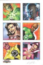 Eric Powell SIGNED Green Lantern Heroes Con Exc Art Print #99/100