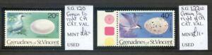 St. Vincent Grenadines 1978 Birds 20c & 40c wmk. varieties mint (2021/02/21#09)