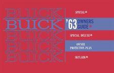 1963 Buick Special Skylark Owners Manual User Guide
