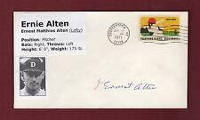 Autograph: ERNEST ALTEN [1894-1981], Tigers ~ Pro Baseball Cooperstown 4/17/71
