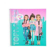 Top Model Dress Me Up Fun FASHION  Sticker Book & Colouring Pages - 10452_D Aqua