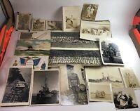 Lot Of WWII & WWI Postcards & Photos B24 Liberator Machine Guns Practice Bomb