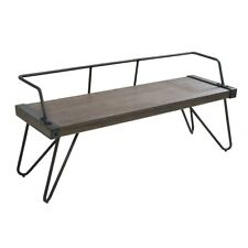 LumiSource Stefani Bench, Walnut Wood, Antique - DC-STFBENWL-AN