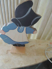 8' Hand Carved & Painted Amish Girl On A Stand Or Could Hang On The Wall .