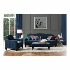 Vintage Tufted Sofa Sleeper Bed Arm Chair Ottoman Set Living Room Home Furniture