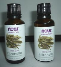 2 NEW Citronella Oil 100% Pure 1 oz by  NOW Foods Essential Oils BEST BRAND EVER