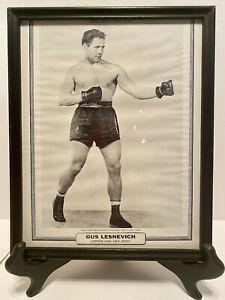 """Vintage Boxing  Picture Gus Lesnevich 8""""x 10"""" Framed"""