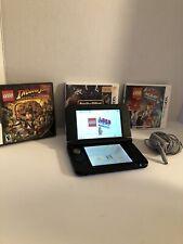 Nintendo Blue/Black 3DS XL Bundle w/ Charger & 3 Games
