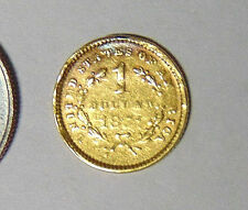 1851 Liberty Head Gold Dollar 1849-1854 Type 1 Fancy Engraved Love Token (#3)