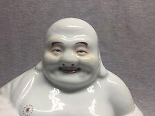 A Large Chinese Famille Rose Porcelain Sitting Laughing Buddha 1930 Mao Jisheng