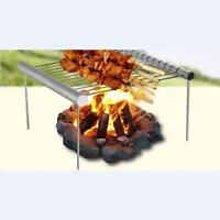 Outdoor Portable Folding Stainless Steel Barbecue Grill  Picnic Camping AL
