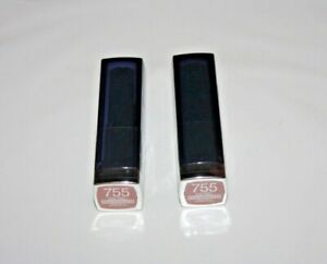 Maybelline ColorSensational BOLD Matte Lipstick #755 Nude Thrill Lot Of 2 Sealed