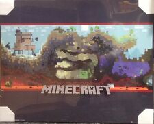 Minecraft World Gaming Poster Picture PS4 Xbox Online Game Ready To Hang Child
