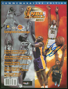 Lakers Shaquille O'Neal Authentic Signed 2000 NBA Finals Program BAS #WP79160