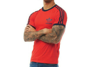 Adidas Originals Men's 3 Stripes Tee T-shirt Crew Neck Short Sleeve RRP £29.99