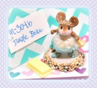 ❤️Wee Forest Folk M-304b Jingle Belle Bell Girl Mouse Holiday Christmas WFF❤️