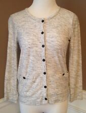 J.crew XS Marled Pocket Cardigan In Feathered Gray