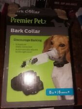 Premier Pet Wireless Bark Collar Discourage Barking 8lb + 6months+ 6 levels